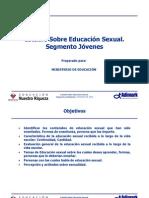 estudio sobre educación sexual - segmento jovenes adimark