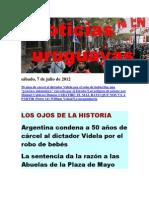 Noticias Uruguayas sábado 7 de julio del 2012