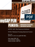 FREE PLM315 Maintenance Processing Operational Functions