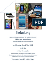 Einladung mobiles Internet