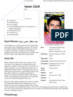 Syed Manzar Hasan Zaidi - Wikipedia, The Free Encyclopedia