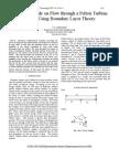 Analytical Study on Flow Through a Pelton Turbine