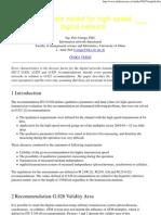 Error Rate Model for High-speed Digital Network