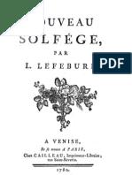 Lefebvre Nouveau Solfege 1780
