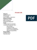 Summary of ISA 200