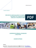 Sûreté nucléaire et radioprotection en Alsace-Lorraine - Bilan 2011