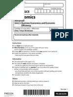 2012 June Edexcel Economics Unit 3 paper