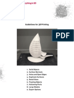 Guidelines for Making 3D Files Printable