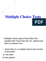 Multiple Choice Test