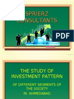 The Study of Investment Pattern(Ppt)