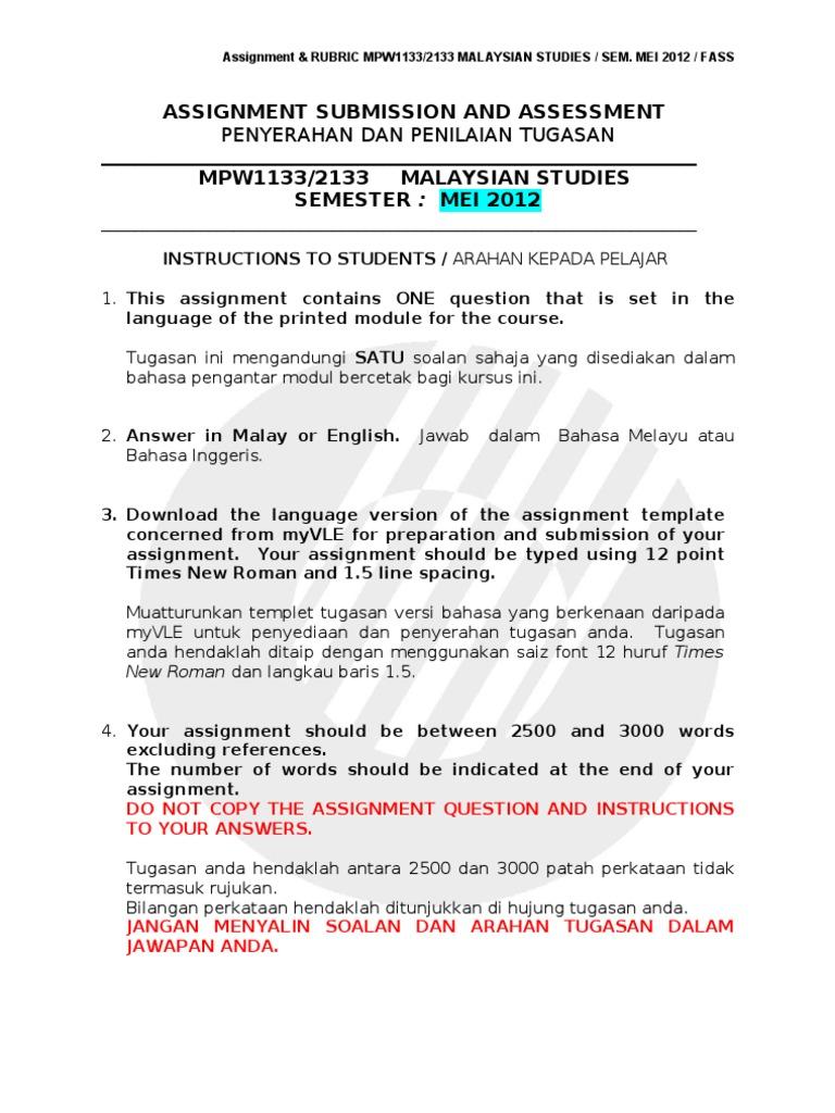 Pengajian Malaysia Assignment Najib Razak Indonesian Language