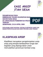 Klasifikasi Arsip Pemerintah Desa