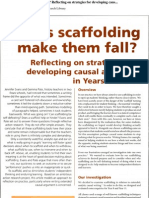 Does Scaffolding Make Them Fall? Reflecting on Strategies for Developing Caus