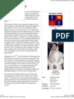 President of India - Wikipedia, The Free Encyclopedia