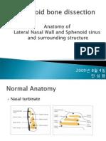2009년 8월 Ethmoid bone dissection-lateral nasal sinus anatomy