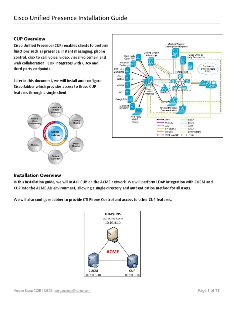 Cisco Unified Presence With Jabber | Active Directory | I Phone