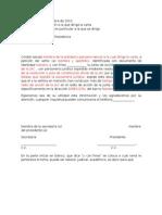 Modelo de Certificado de Residencia JAC