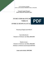 Etude Comparative Des Temps Verbaux Entre Le Setswana Et Le Francais
