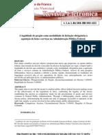 A Legalidade do pregão como modalidade de licitação obrigatória na administração pública federal