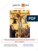 Livret Messe du Précieux-Sang de Jésus / Booklet Mass of the Feast of the Precious Blood of Jesus
