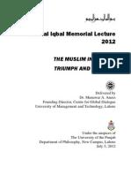 Iqbal Memorial Lecture 2012