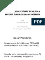 Analisis Konseptual Penilaian Kinerja dan Otentik