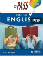 How to Pass Higher English How to Pass Higher Level