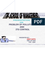 problem of pollution and its control
