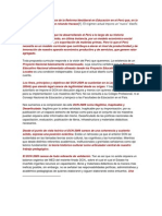 En el marco de un balance de la Reforma Neoliberal en Educación en el Perú que