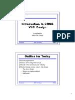 Introduction to CMOS & VLSI Design