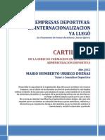 Prom-cartilla 5. Internacionalizacion de La Empresa Deportiva.- Mario Urrego 20-06-12