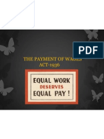 The Payment of Wages