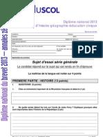Annales Zero Dnb2013 Serie-generale Hgec Sujet1 219562