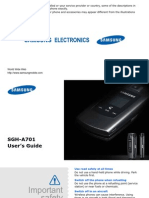 Samsung SGHA701 Manual