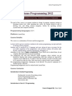 System Programming Course Outline 2012