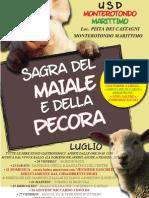 Sagra Maiale e Pecora Monterotondo Marittimo A3 Manifesto