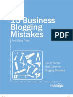 15 Biz Blogging Mistakes