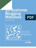 15 Biz Blogging Mistakes