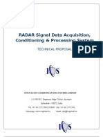 RADAR Signal Data Acquisition, Conditioning & Processing System