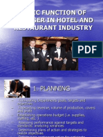 Basic Functions of a Manager in a Hotel, Hrm 116 With Picture