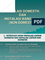 Instalasi Listrik Domestik & Non Domestik