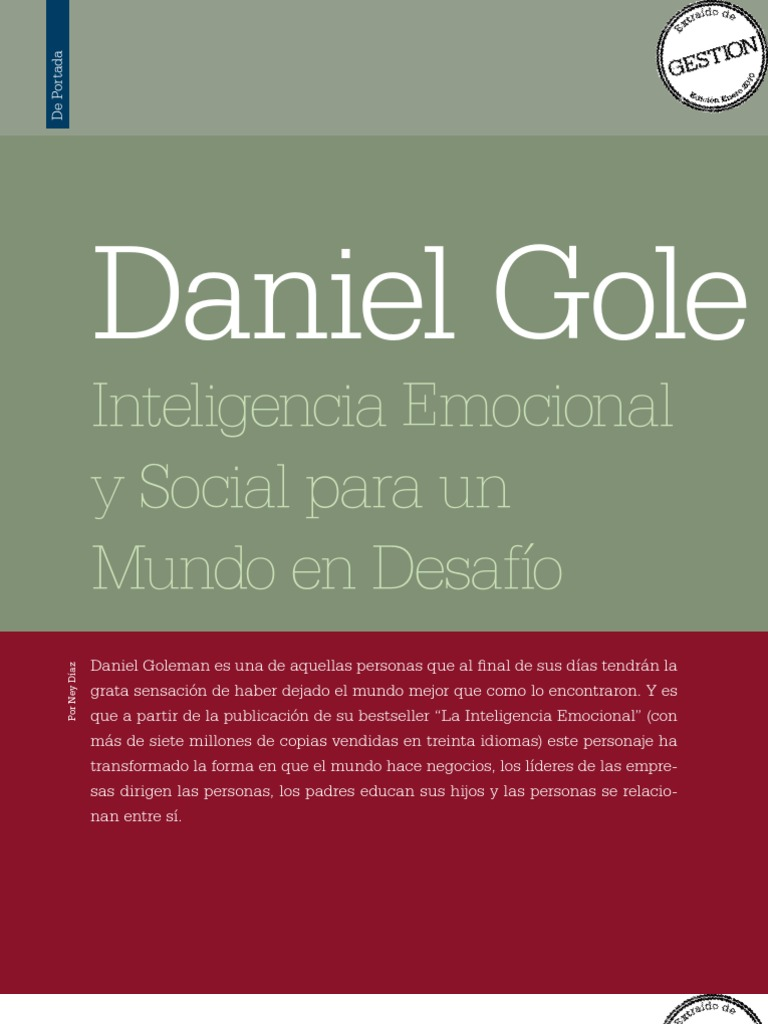 007 Daniel Goleman