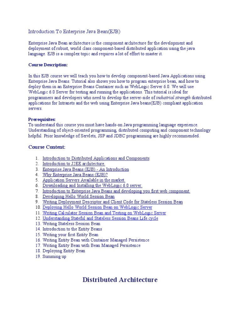 Introduction to enterprise java bean enterprise java beans introduction to enterprise java bean enterprise java beans application server baditri Gallery