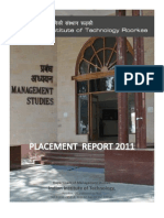 DoMS IIT Roorkee Executive Placement Report 2011