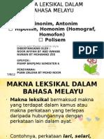 Makna Leksikal Dalam Bahasa Melayu
