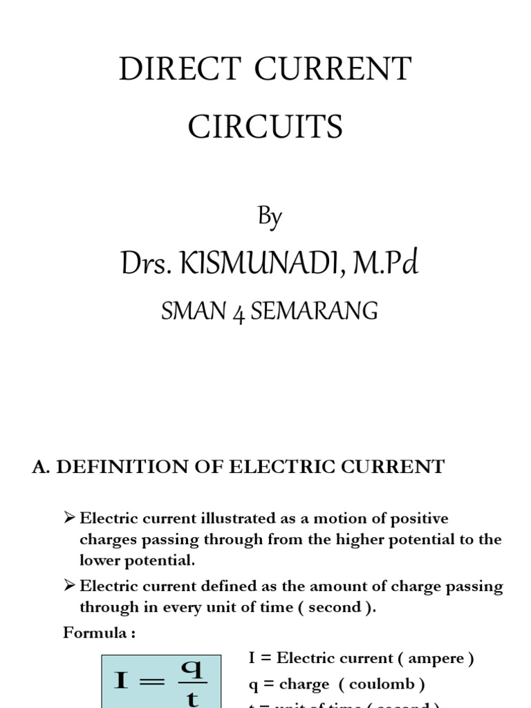 chapter vii direct current circuits   electrical resistance and