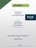 Job Portal Project Report by Alim