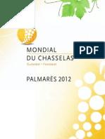 Palmarès Mondial du Chasselas 2012