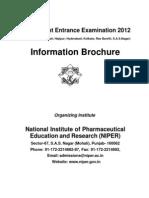 2012_NIPERJEE_InformationBrochure