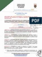 ACUERDO No. 013 DE FECHA 04 DE JUNIO DE 2012